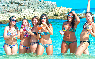 Explore Punta Morena Beach Restaurant bar on the best Bar Hop Tour available in Cozumel