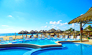 Cool off at our Pool in Punta Morena Beach taking our Cozumel Bar Hop Excursion
