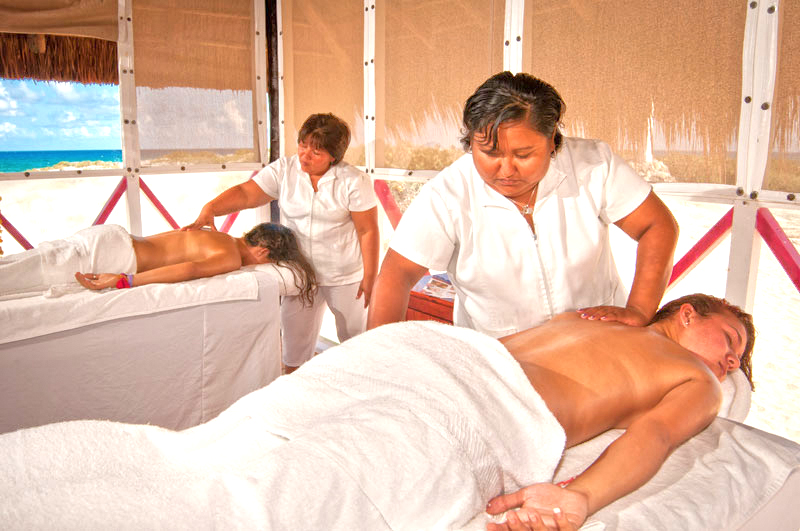Get a massage at one of the Cozumel beach breaks during the beach hopping excursion