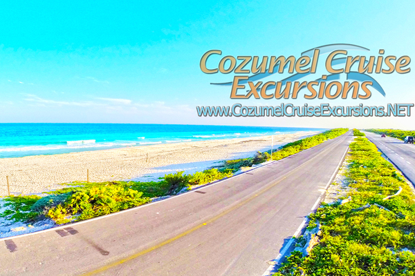 cozumel beach break during cozumel sightseeing tour in Cozumel Mexico
