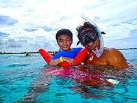 family snorkel tour in cozumel mexico
